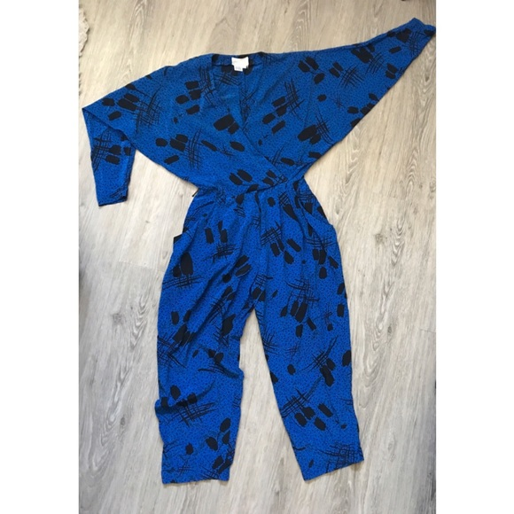 6464499fcc6 Silk Jumpsuit Romper 90s inspired geometric print